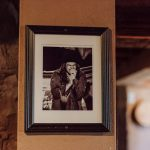 Framed photo of musician singing