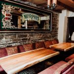 Long tables & Murphy's Irish Red mirror