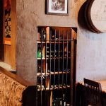Small wine cellar with iron bars