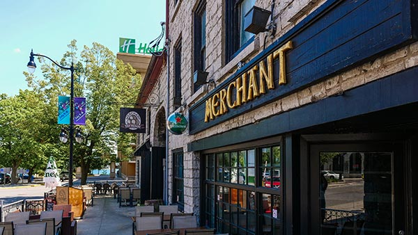 Merchant Taphouse waterfront patio in Kingston Ontario